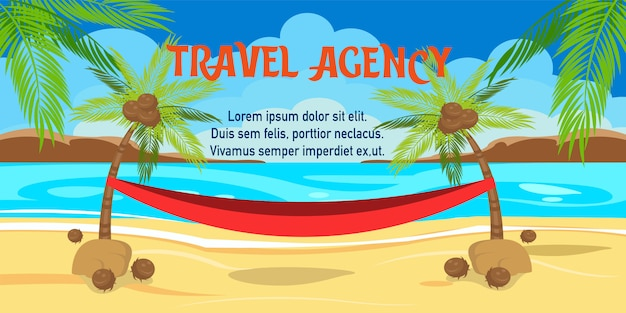 Summer vacation vector illustration with lettering Premium Vector