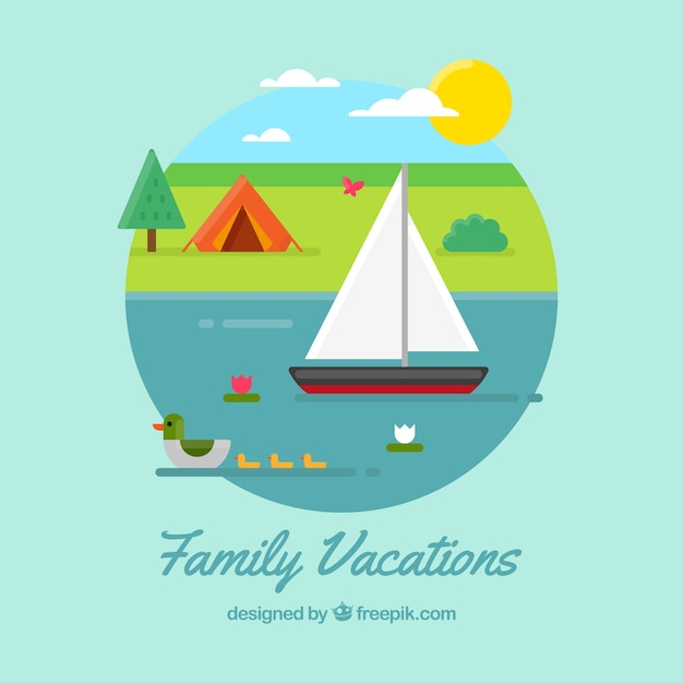 Summer vacations background