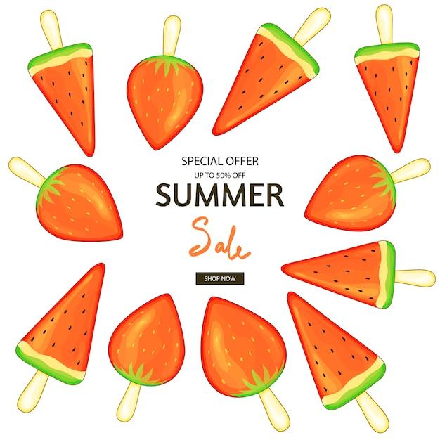 Summer vector collection. Premium Vector