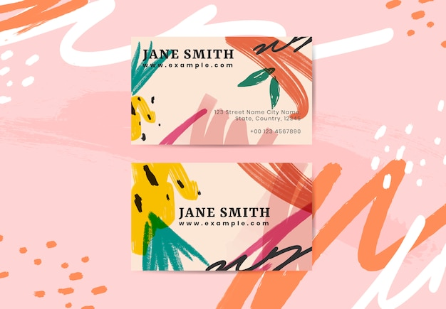 Summer vibe business card Free Vector