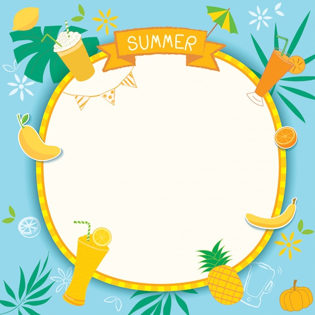 Summer yellow Premium Vector