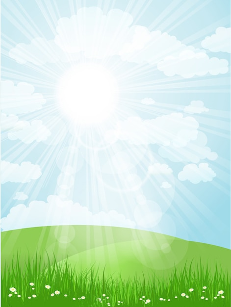 Summers day Free Vector