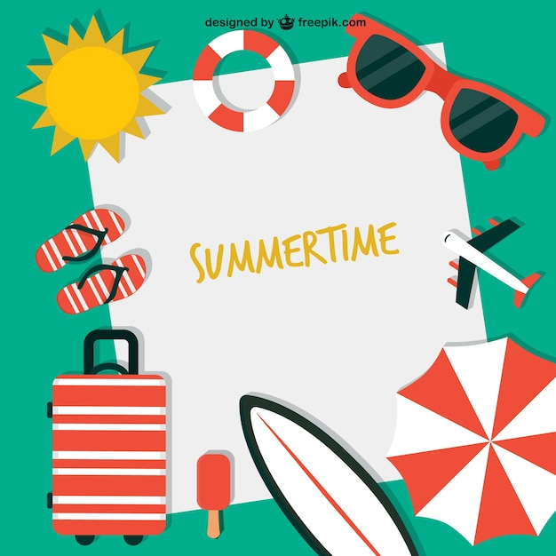 Summertime background | Free Vector