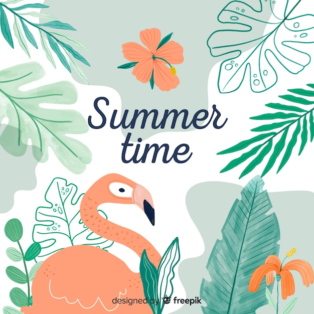Summertime background Free Vector