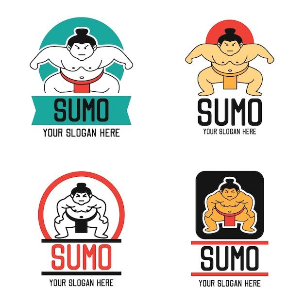 Sumo logo Premium Vector