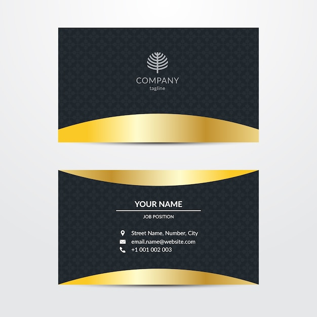 Sumptuous business card template Free Vector