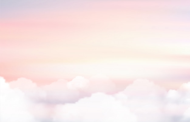 Sun and cloud background Premium Vector