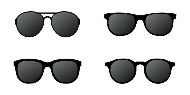 Sun glasses set simple design Premium Vector