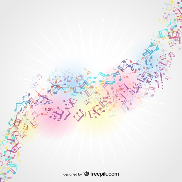 Sun light musical background Free Vector