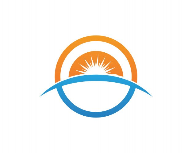 sun logo and symbols star icon web vector vector