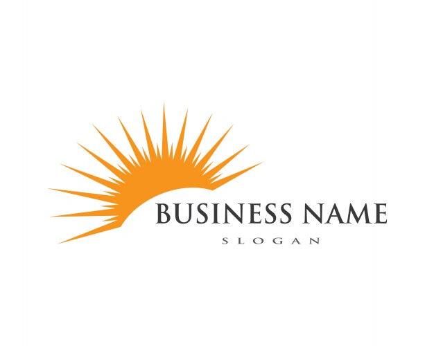 sun logo icon temnplate vector premium download