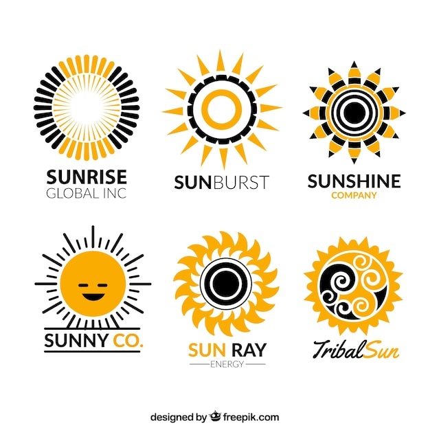 Sun Logos Collection Vector Free Download