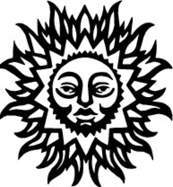 sun with human face vector clip art vector free download rh freepik com Large Sun Face Wall Art Vintage Sun Face Design