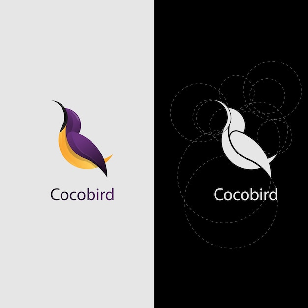Sunbird logo premium Premium Vector