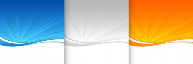 Sfondo sunburst nei colori blu grigio e arancione Vettore gratuito