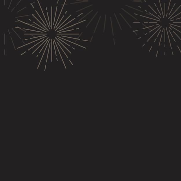 Sunburst background design in black vector Free Vector