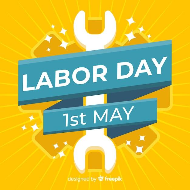 Sunburst effect labor day background Free Vector