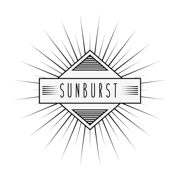 Sunburst frame design Vector | Premium Download