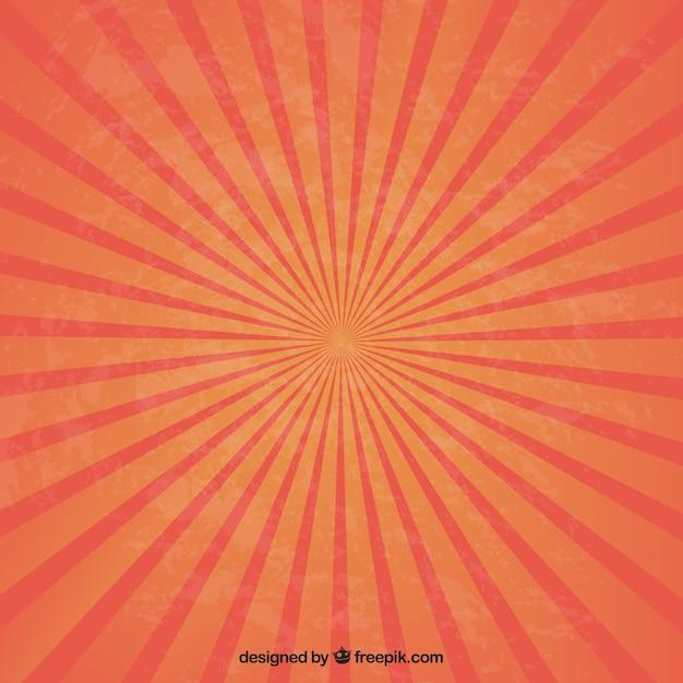 Sunburst in red and orange tones Free Vector
