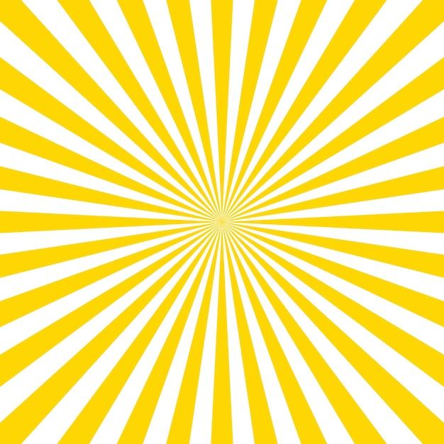 サンバーストベクトルの背景。サンバーストヴィンテージスタイル。黄色のベクトル光線。 Premiumベクター