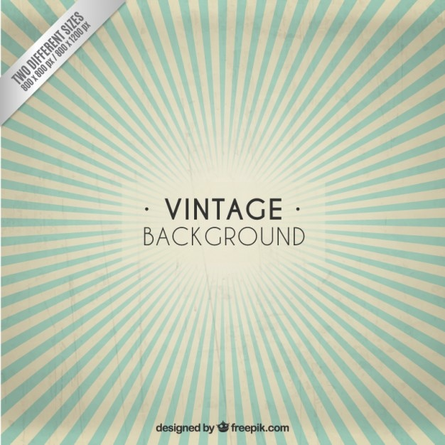 Sunburst vintage background Free Vector