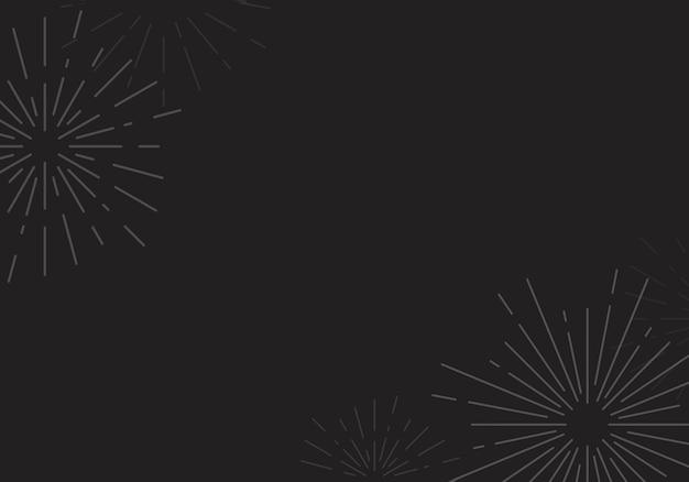 Дизайн фона sunburst в черном векторе Бесплатные векторы