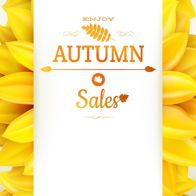 ひまわり秋のセール。 Premiumベクター