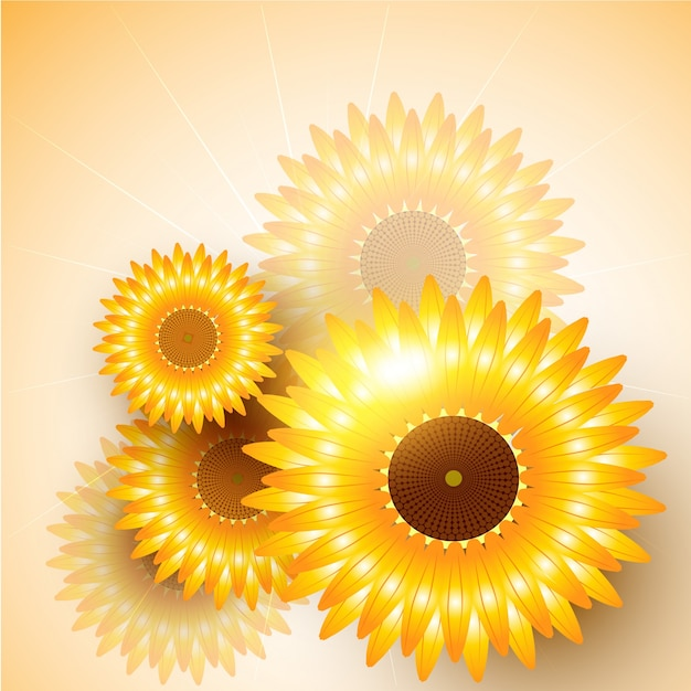 Sunflower background design