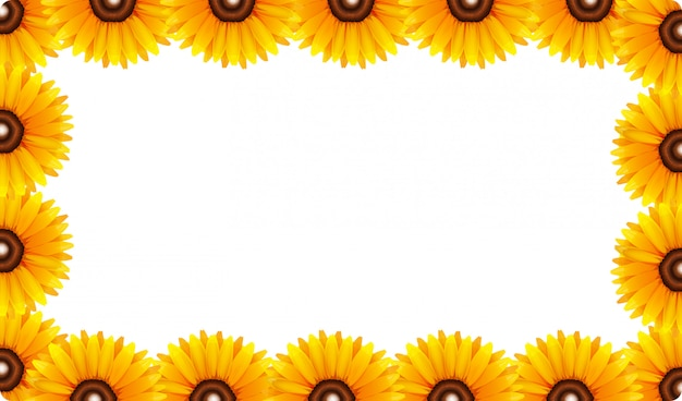 A sunflower frame Free Vector