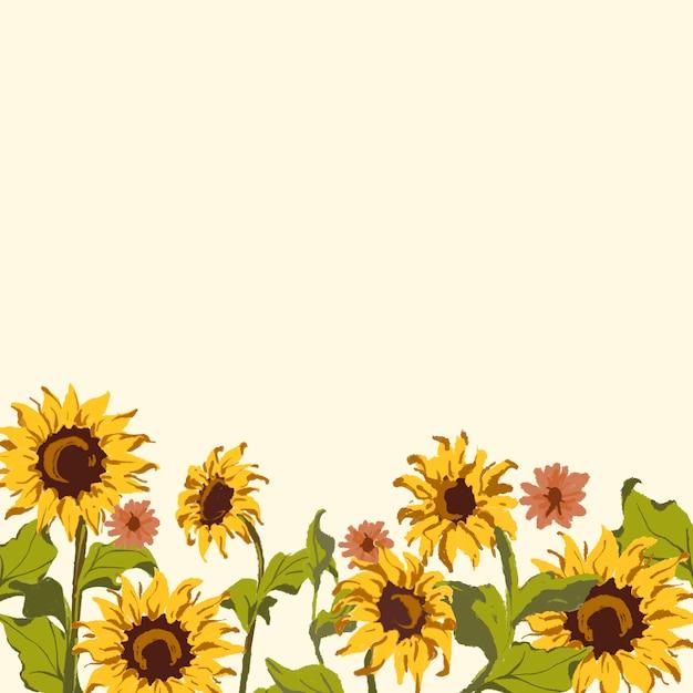 Sunflower pattern Free Vector
