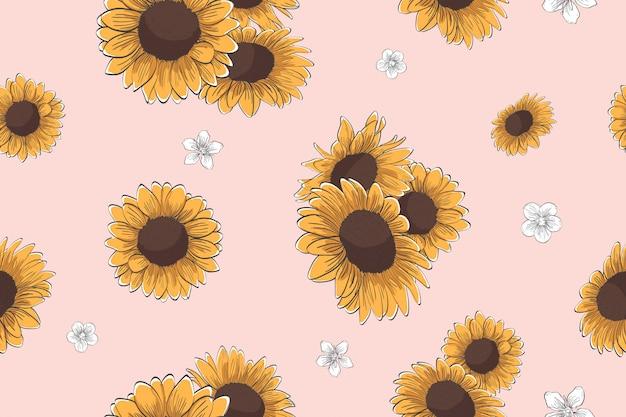 Sunflower seamless pattern Vector   Premium Download