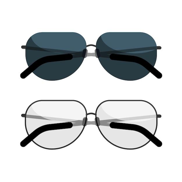 Sunglasses And Eyeglasses Icon Isolated On White Background
