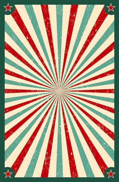 Солнечный свет ретро санберст фон. старый звездный взрыв. цирковой стиль Premium векторы