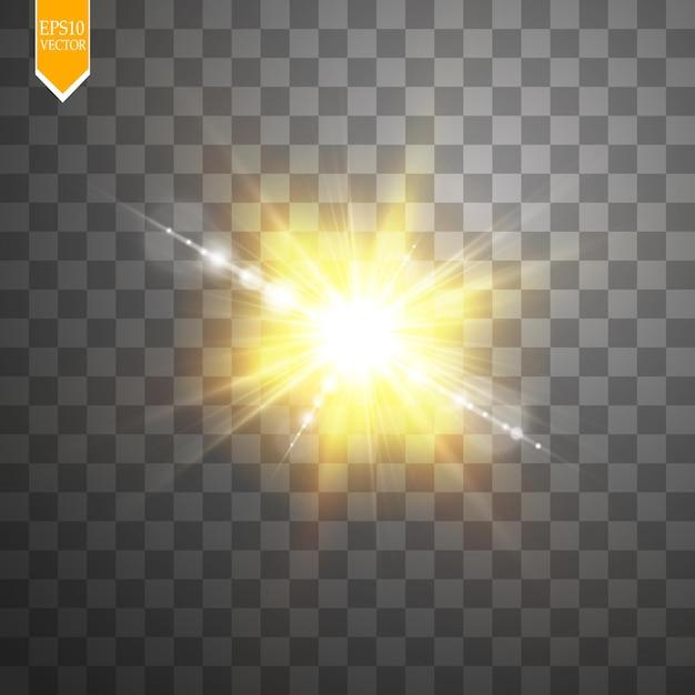 日光特殊レンズフレアライト効果 Premiumベクター