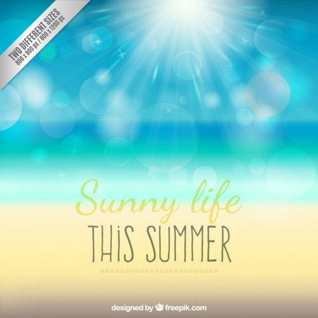 Sunny life background Free Vector