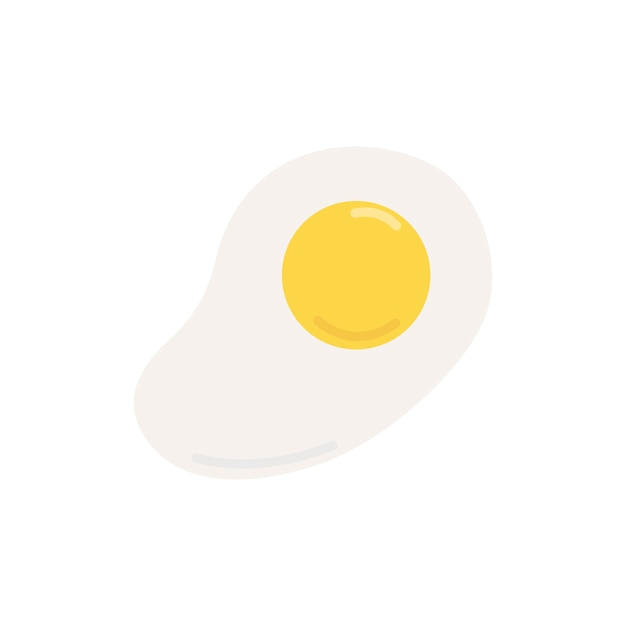 Sunny side up fried egg graphic illustration Free Vector