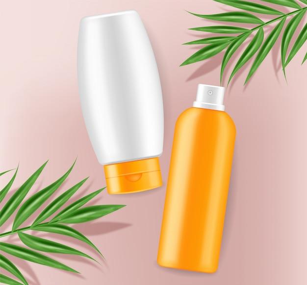 Sunscreen cream mock up Premium Vector
