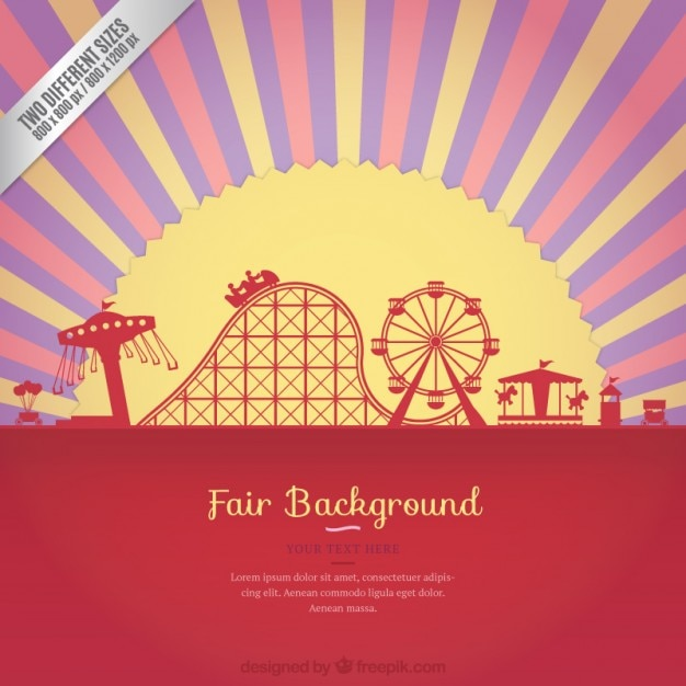 Sunset at the fair background