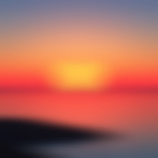 Sunset blurred background