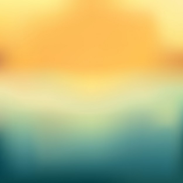 Sunset landscape blur background