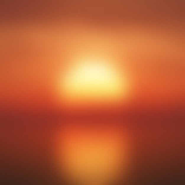 Sunset unfocused background