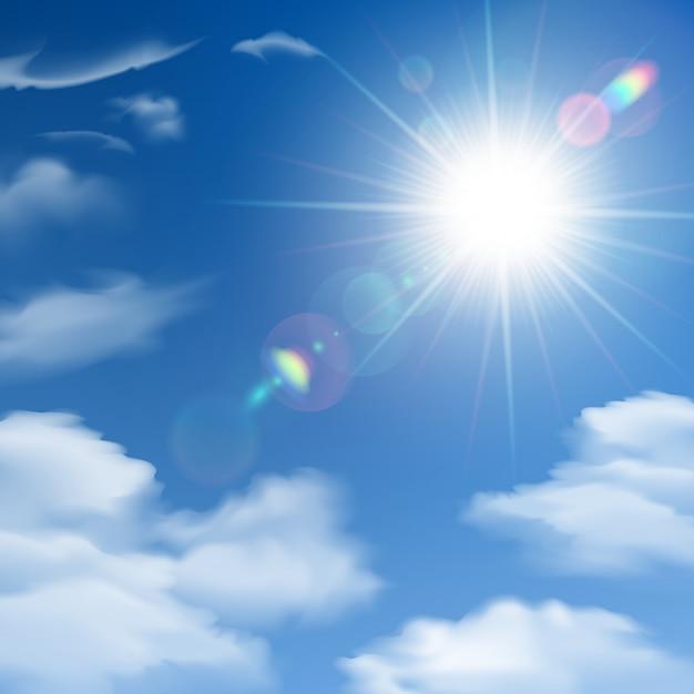 太陽の光の背景ポスター 無料ベクター