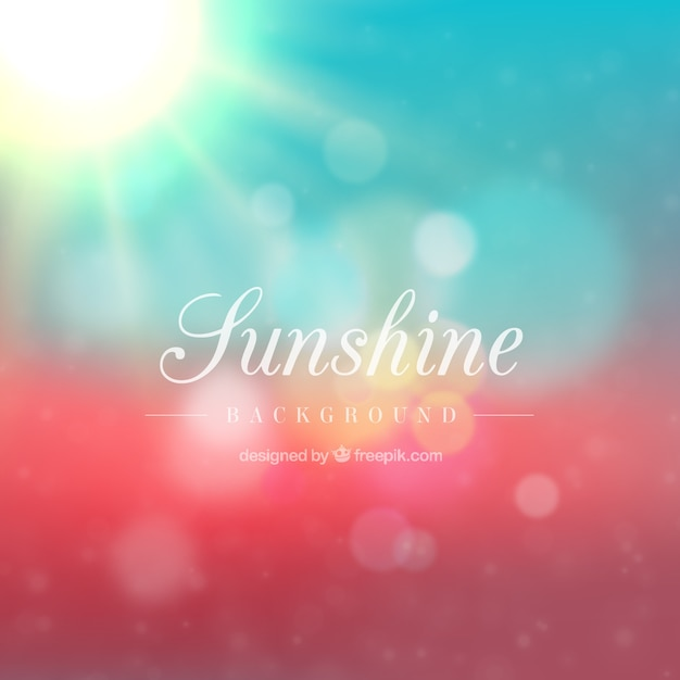 Sunshine Background Vector Free Download