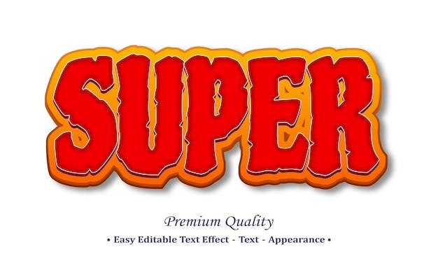 Super 3d editable text style effect Premium Vector