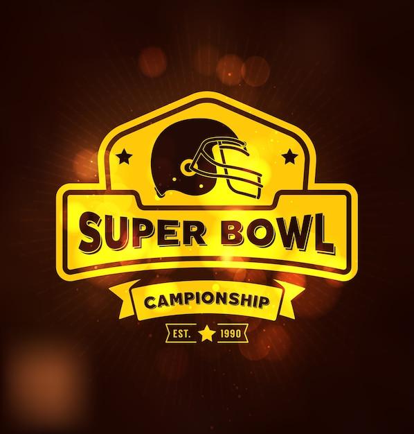 Premium Vector Super Bowl Championship Logo Sport