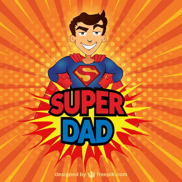 Super Dad card Free Vector