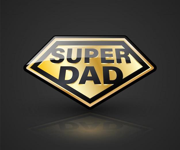Premium Vector Super Dad Shield Symbol For Element Father S Day