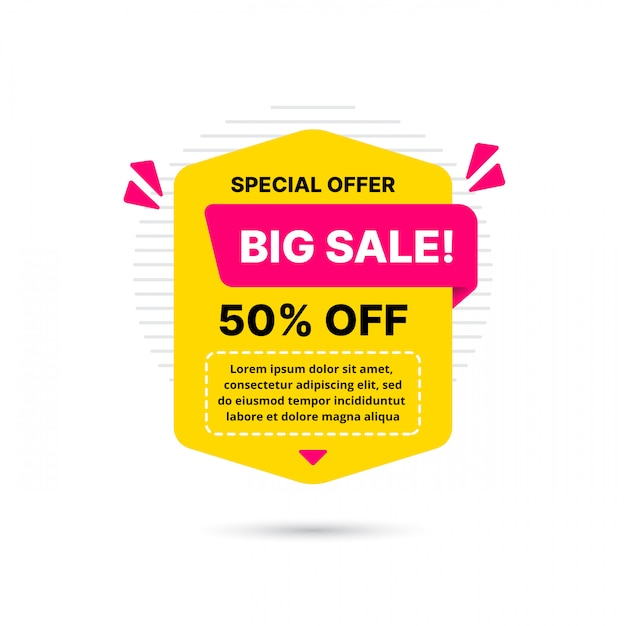 Super deal sale banner template design, big sale special offer. end of season special offer banner. abstract promotion graphic element. Premium Vector