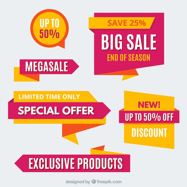 Super discount stickers Free Vector