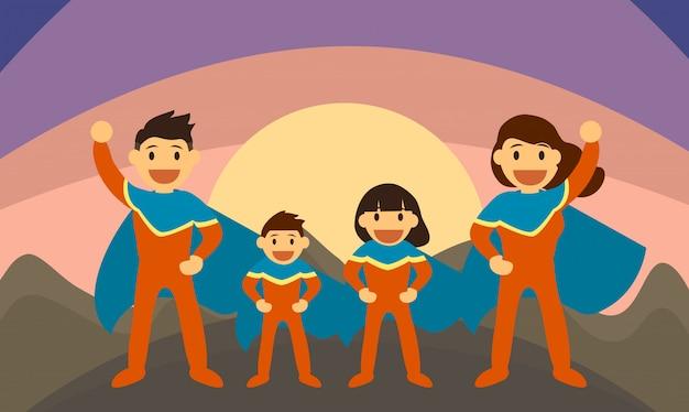 Super family Premium Vector